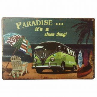 VW Combi Paradise Tin Sign