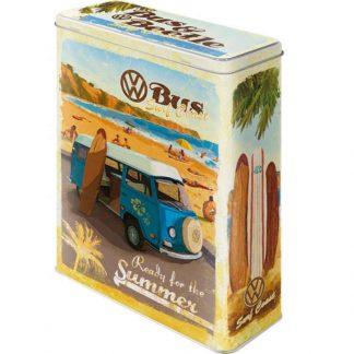 VW Kombi Ready For Summer Embossed XL Storage Tin