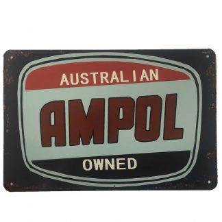 Ampol Australian Owned Tin Sign
