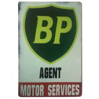 BP Agent Motor Services Tin Sign