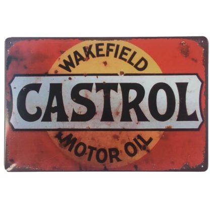 Castrol Wakefield Metal Tin Sign