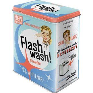Flash Wash Powder Embossed Large Tin