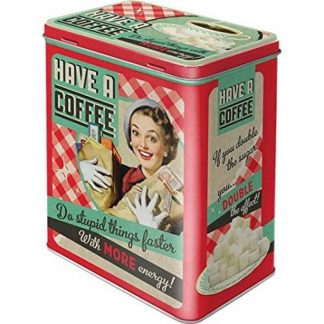 Have a Coffee Embossed Large Tin