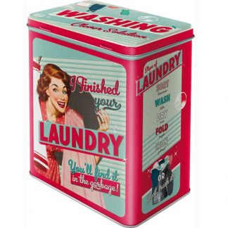 Laundry Embossed Large Tin