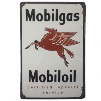 Mobilgas Mobiloil Tin Sign