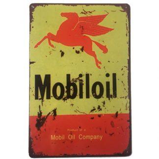 Mobiloil Metal Tin Sign