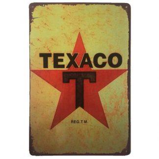 Texaco Metal Tin Sign