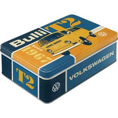VW Bulli T2 Embossed Flat Tin