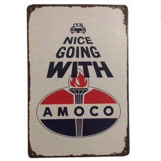 Amoco Tin Sign