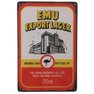 Emu Export Lager Tin Sign