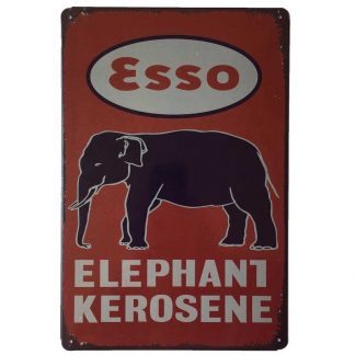 Esso Elephant Kerosene Tin Sign