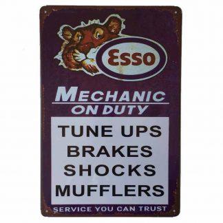 Esso Mechanic Tin Sign