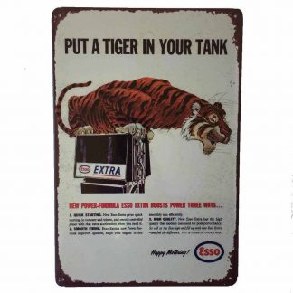 Esso Put a Tiger in your Tank Metal Sign