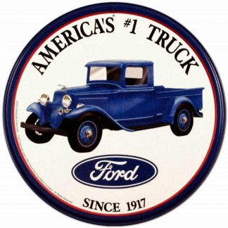 Ford Trucks Round Tin Sign
