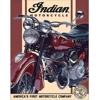 Indian 1948 Chief Tin Sign
