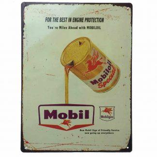 Mobiloil Special Tin Sign