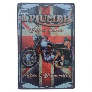 Triumph Bonneville Tin Sign