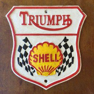 Triumph Shell Cast Iron Sign