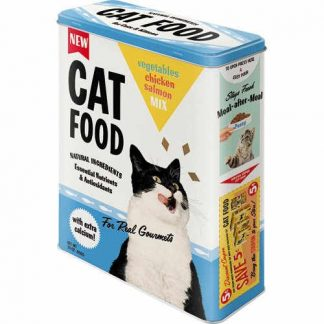 Cat Food XL Embossed Storage Tin
