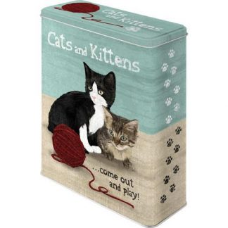 Cats & Kittens XL Embossed Storage Tin