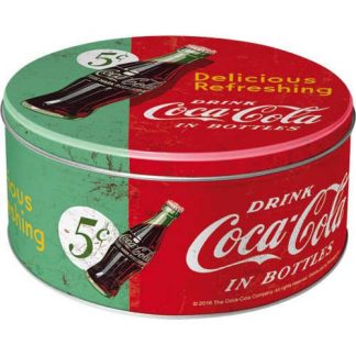 Large Round Coke Refreshing Green Tin