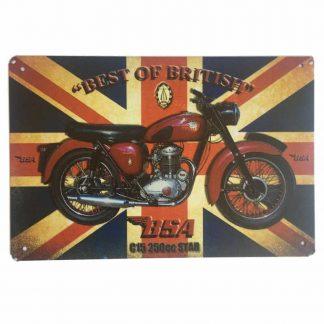 BSA C15 Tin Sign