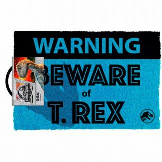 Jurassic World Beware T.rex Doormat