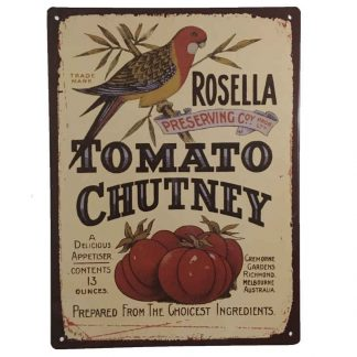 Rosella Chutney Tin Sign