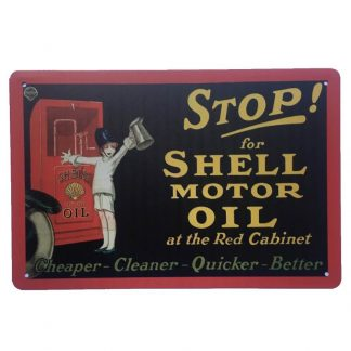 Stop for Shell Sign