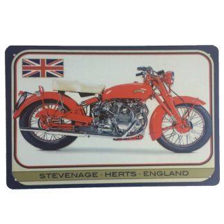 Vincent Motorbike Tin Sign