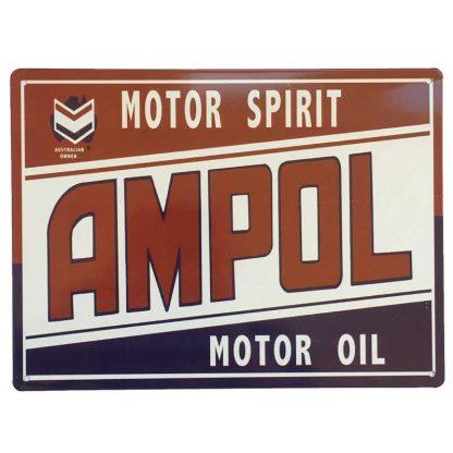 Ampol Motor Spirit Sign
