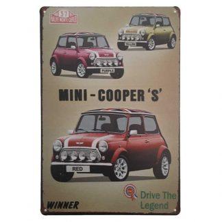 Mini Cooper S Sign