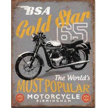 BSA 65 Gold Star Sign