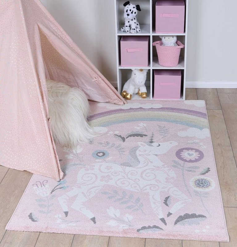 Kids Unicorn Rug Large 120x170cm Kidscollections