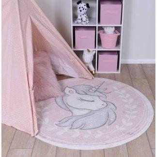 Round Unicorn Rug