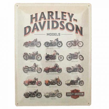Harley Davidson Models Sign