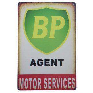 BP Agent Tin Sign