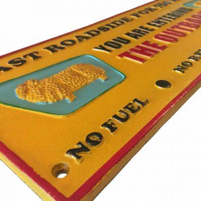 Cast Iron Golden Fleece Sign