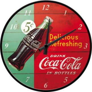Coca Cola Red & Green Clock
