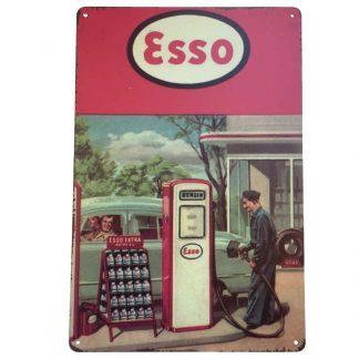 Esso Pump Tin Sign
