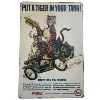 Esso Tiger Tin Sign
