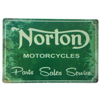 Norton Motorcycles Parts Sign