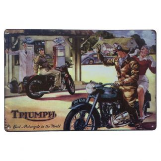 Triumph Best Motorcycle Sign
