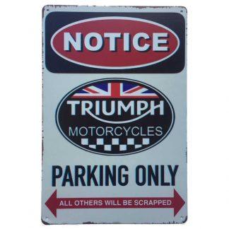 Triumph Parking Sign