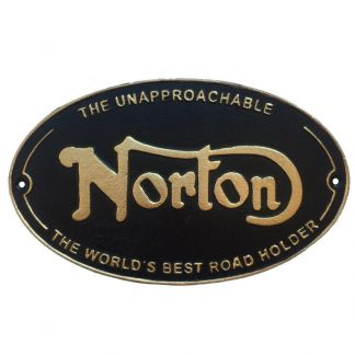 Cast Iron Norton Sign