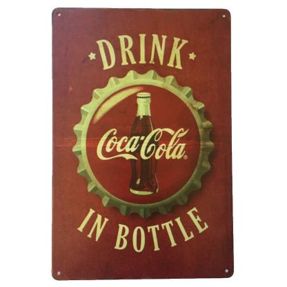 Drink Coca-Cola in Bottle Sign