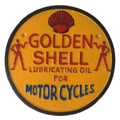 Golden Shell Cast Iron Sign