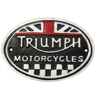 Triumph Cast Iron Sign