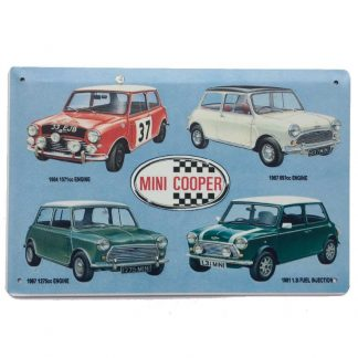 Mini Cooper Tin Sign