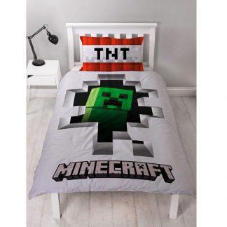 Minecraft Dynamite Single Quilt